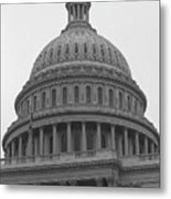 United States Capitol Building 3 Bw Metal Print