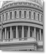 United States Capitol Building Bw Metal Print