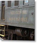 United States Mail Railway Post Office Box Car Metal Print