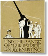 United States Navy Recruitment Poster From 1918 Metal Print
