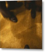 United States People Feet At A Party Metal Print