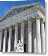 United States Supreme Court Building Metal Print