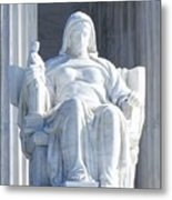 United States Supreme Court, The Contemplation Of Justice Statue, Washington, Dc 2 Metal Print
