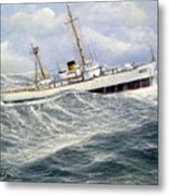 United Statescoast Guard Cutter Ingham Metal Print by William H RaVell III