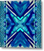 Simply The Blues Metal Print