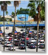 Universal Florida Parking Entrance Metal Print