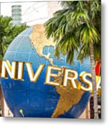 Universal Studio Globe Metal Print