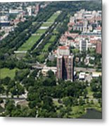 University Of Chicago Booth School Of Business And Midway Plaisance Park Aerial Photo Metal Print