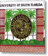 University Of South Florida Metal Print by Frederic Kohli