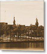 University Of Tampa - Old Postcard Framing Metal Print