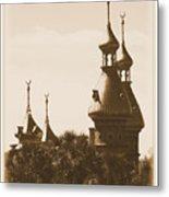 University Of Tampa Minarets With Old Postcard Framing Metal Print