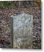 Unknown Confederate Soldier - Natchez Trace Metal Print