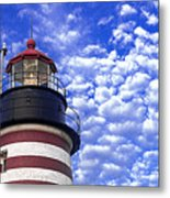 Unmistakable In Any Weather - West Quoddy Head Lighthouse Metal Print