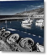 Unplugged At The Harbour - Toned Metal Print