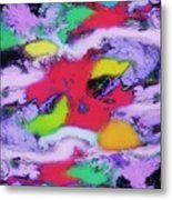 Unpredictable Wave Metal Print