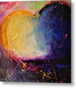 Unrestricted Heart Sunset Colors Metal Print by Johane Amirault