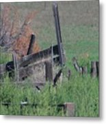 Untended Fences Metal Print