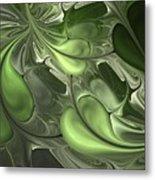 Untitled 1-26-10 Pale Green Metal Print