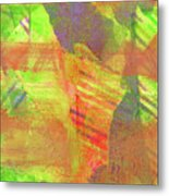 Untitled #13 Abstract Multicolor Metal Print