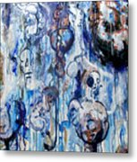 Untitled Blue Metal Print