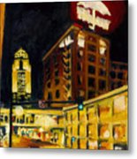 Untitled In Red And Gold Metal Print