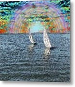 Unto The Sunset We Sail My Love Metal Print