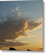 Unusual Cloud At Sunset Metal Print