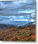 Up In The Clouds Blue Ridge Parkway Mountain Art Metal Print