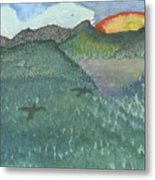 Up In The Mountains Metal Print