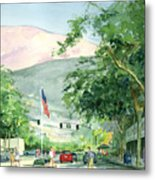 Up Linden Avenue Metal Print