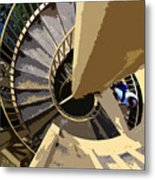 Up The Spiral Staircase Metal Print