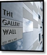 Up The Wall-the Gallery Wall Logo Metal Print