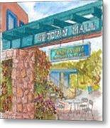 Sedona Up Town Mall In Sedona, California Metal Print
