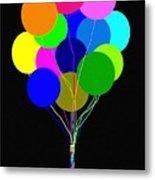 Upbeat Balloons Metal Print