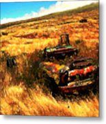 Upcountry Wreck Metal Print