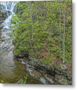 Upper And Middle Falls At Mine Kill State Park Metal Print