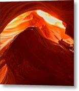 Upper Antelope Sunlit Layers Metal Print