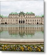 Upper Belvedere And Its Reflection  Metal Print