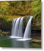 Upper Butte Creek Falls In Autumn Metal Print