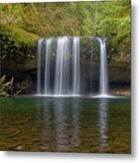Upper Butte Creek Falls In Fall Season Metal Print