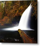 Upper Butte Creek Falls Metal Print
