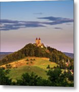 Upper Church With Two Towers In Banska Stiavnica, Slovakia Metal Print