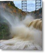 Upper Falls After A Storm Metal Print
