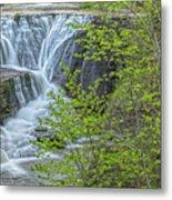 Upper Falls At Mine Kill State Park Metal Print