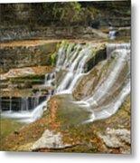 Upper Gorge Falls Of Enfield Glen In Treman State Park Metal Print