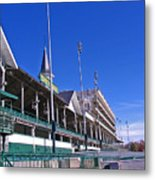 Upper Level Viewing Stands At Churchill Downs Metal Print
