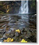 Upper North Falls In Autumn Metal Print