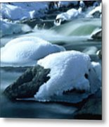 Upper Provo River in Winter Metal Print