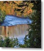 Upper Tahquamenon Falls In October Metal Print