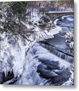 Upper Taughannock Winter Metal Print